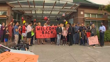 Renton girl hit by car gets memorable escort to first day of school