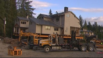 8,000-square foot house floats across Puget Sound to new home