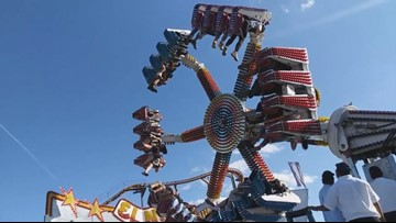 Witness video captures 19 trapped on broken ride at Washington State Fair