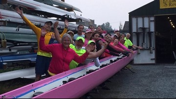 Holy Names Academy rowers outline Row for the Cure event