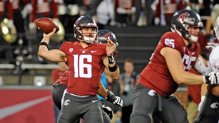 Gardner Minshew threw for 470 yards, James Williams ran for three touchdowns, and Washington State beat Eastern Washington 59-24 on Saturday night to avenge a 2016 loss to its FCS neighbor.