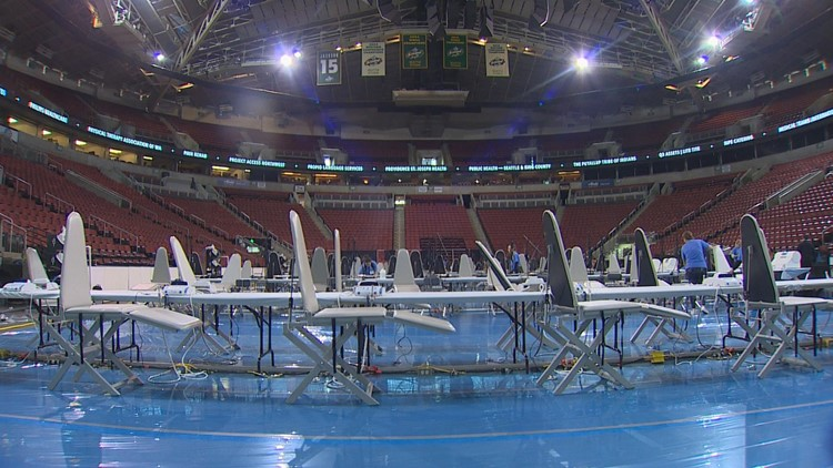 KeyArena with dental chairs