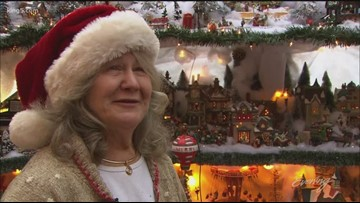 This mini Christmas town fills a whole room with maxi holiday cheer - KING 5 Evening
