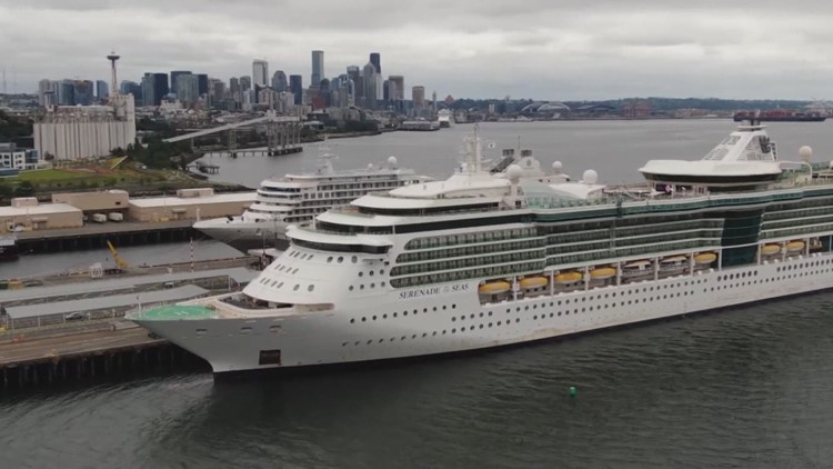 1st cruise ship of the season departs from Seattle Monday