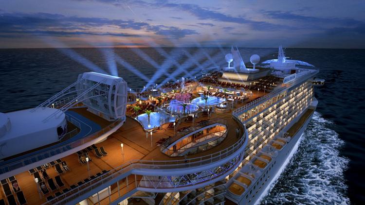Royal Princess Cruise Top Deck View