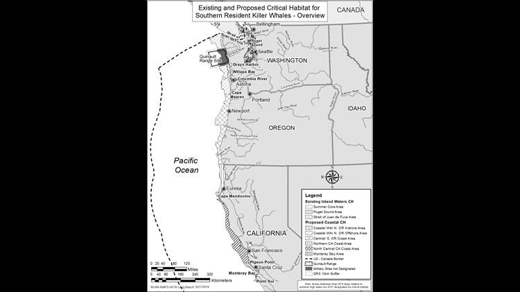 Orca habitat map