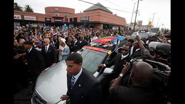 Memorial spotlights the man behind Nipsey Hussle rap persona