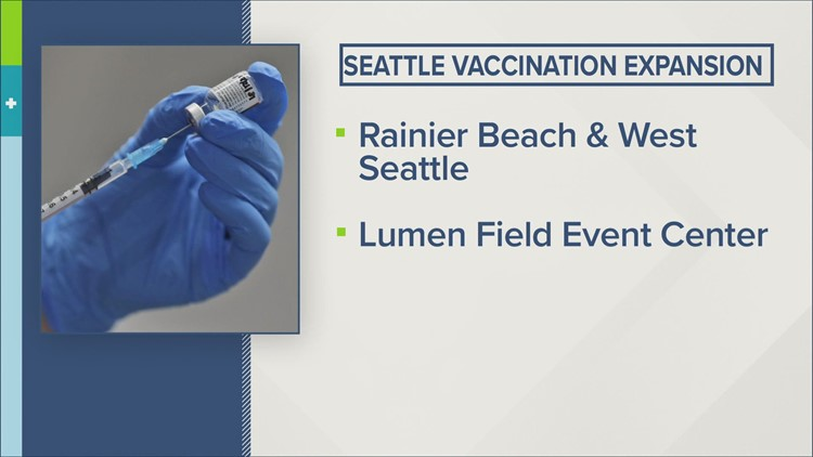 Mass vaccination site opening at Lumen Field in Seattle