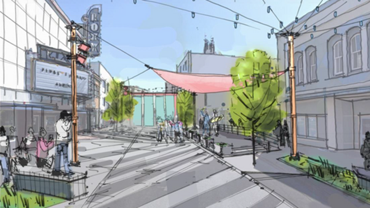 Bremerton rendering Quincy Jones public square
