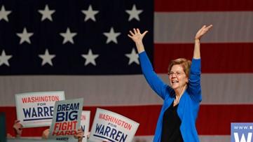 Elizabeth Warren speaks to thousands of supporters in Seattle