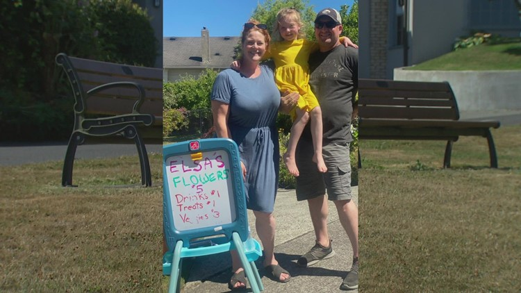 Everett neighbors say 7-year-old's lemonade stand shut down by the city while complaints over homeless encampment go unaddressed