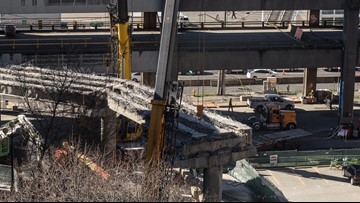 Seattle viaduct demolition: Double-decker section coming down