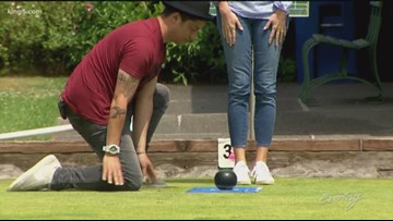 Team Evening takes a toss at lawn bowling - Field Trip Friday - KING 5 Evening