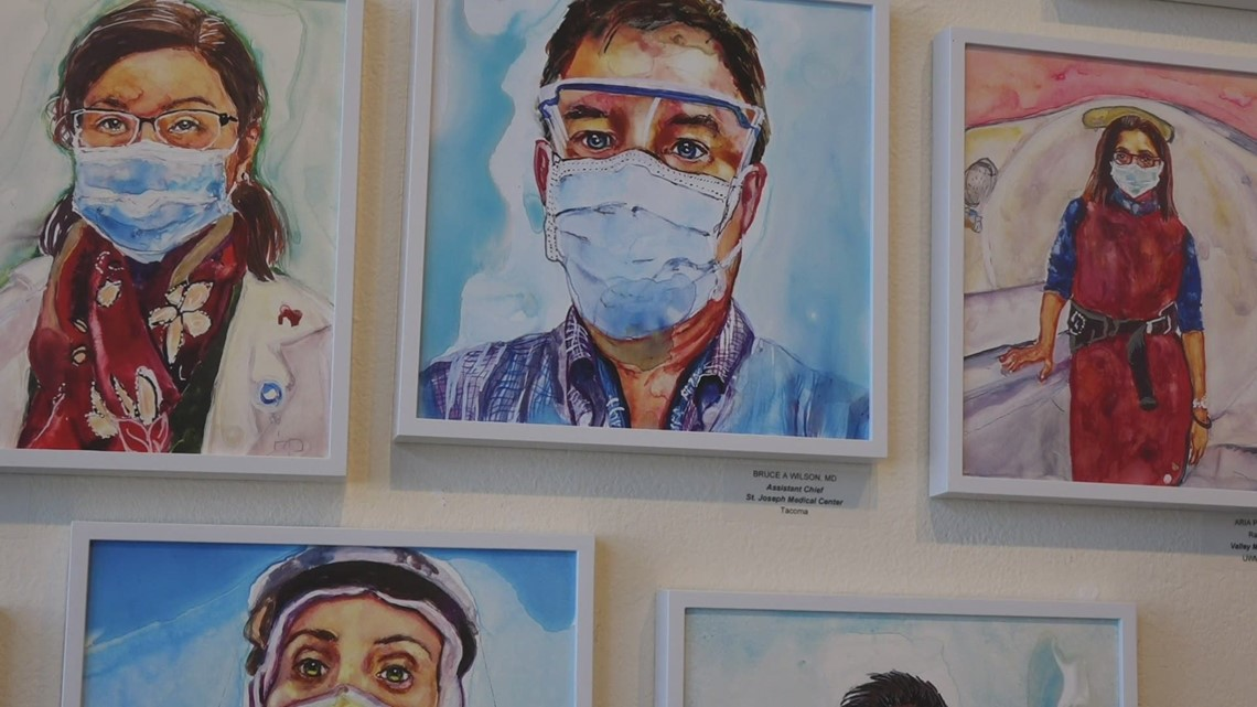 Seattle artist honors healthcare workers on the frontlines of COVID-19 fight