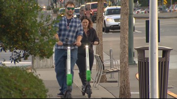 Electric scooters hit the streets of Bothell