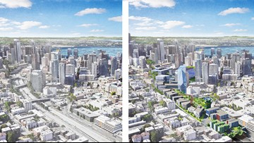 Putting a lid on I-5 could bring Seattle more green space