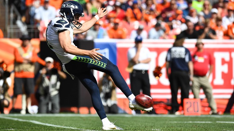 The Seattle Seahawks' Michael Dickson knows his unconventional punting style is likely to catch the eye of a few kicking enthusiasts in England.