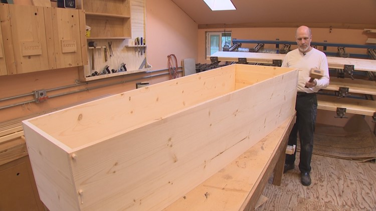 Vashon coffin maker Marian Caskets isn't spooky at all