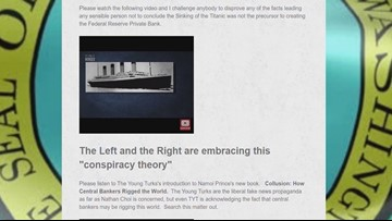 Titanic conspiracy theories posted on State Supreme Court candidate's website