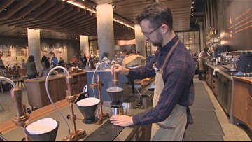 Starbucks offers a one of a kind experience at the SODO Reserve Store