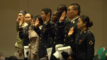Soldiers sworn in as citizens at JBLM