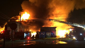 Massive Seattle lumberyard fire ruled as arson