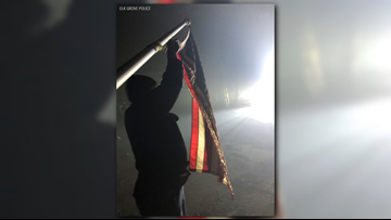American flag found in 'almost perfect condition' among California homes destroyed by Camp Fire