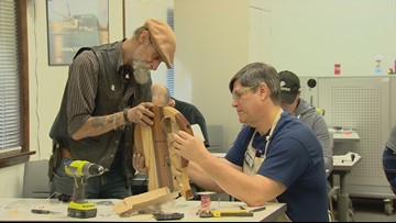 Washington veterans build guitars, confidence at Lynnwood workshop