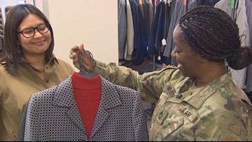 Pierce County non-profit gives outgoing service members new suits