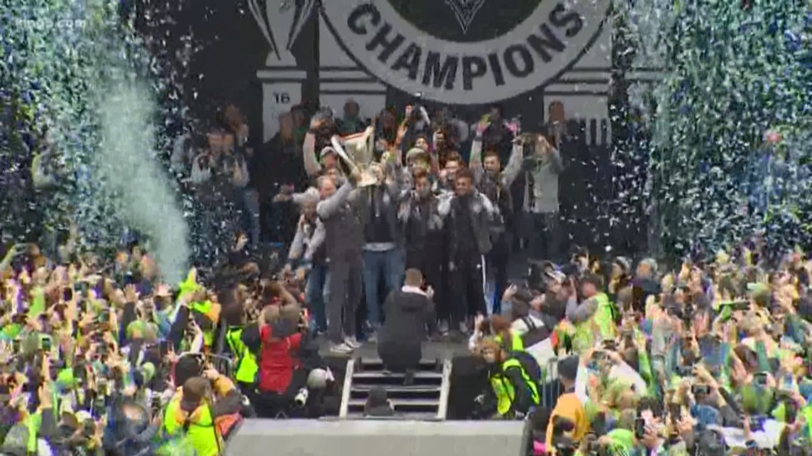 Sounders celebrate championship win