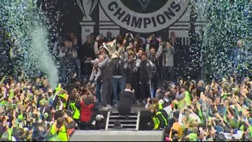 Sounders celebrate championship win