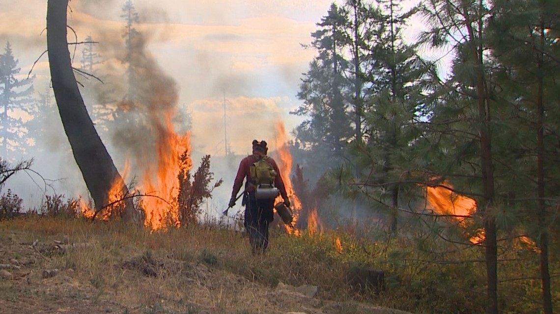 What to do if you see smoke or fire on the trail