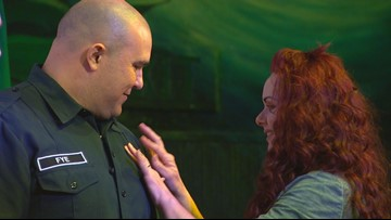 Bremerton veteran who lost a leg becomes a firefighter