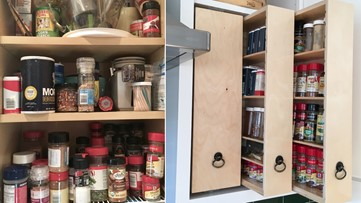 Spend more time cooking and less time looking for ingredients with these organizers