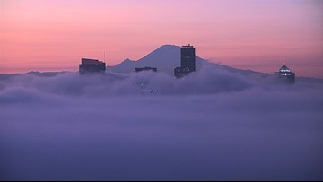 Fog and germs: Braving holiday travel at Sea-Tac Airport
