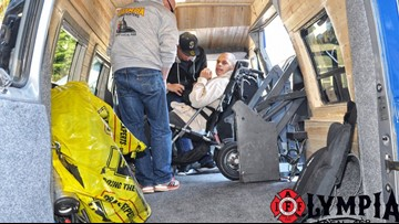 Olympia firefighters spend hundreds of hours renovating van to give to mother, son