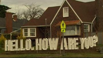 Tacoma residents transform fence into conversational art