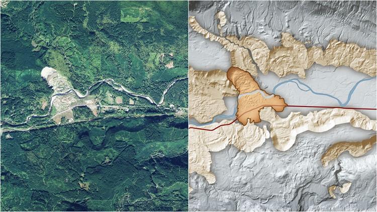oso landslide lidar map