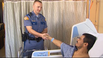 Lacey man says WSP trooper saved his life after crash
