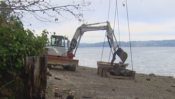 State cleaning 100-year-old debris from south Puget Sound island