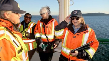 Ferry crew honored for rescuing man in Sinclair Inlet