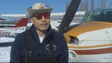 Man with one eye defies the odds to get pilot's license, become flight instructor