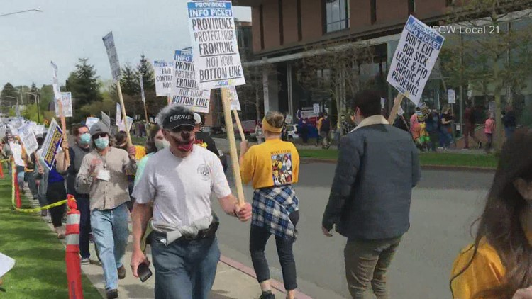 Nurses at Everett's Providence Medical Center vote to authorize a strike