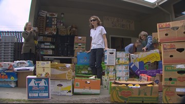 Boy collects more than 9,000 pounds of food for Whidbey Island food bank