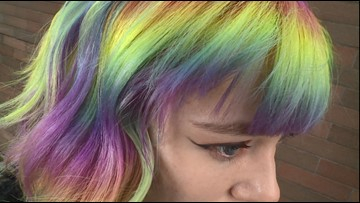 Tacoma stylist gives clients' hair every color of the rainbow - KING 5 Evening