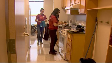 Volunteers prepare new Seattle apartments for the homeless