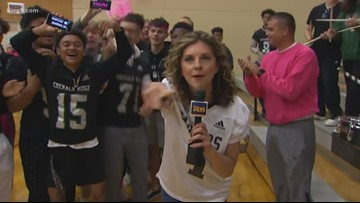 K5 Pep Rally: Puyallup's Emerald Ridge High School
