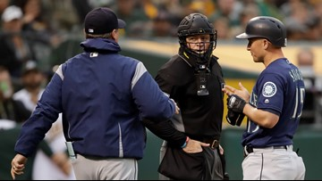 Mariners lose to A's 11-2; Servais ejected