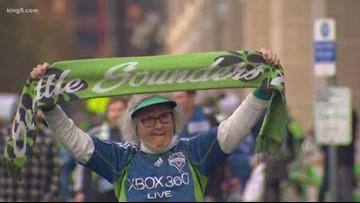 Preparations for the Sounders parade