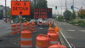 Seattle's Fairview Avenue bridge closes for 18 months